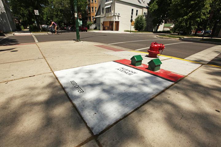 Street Art: Chicago als Monopoly-Spiel chicago_monopoly_streetart_02