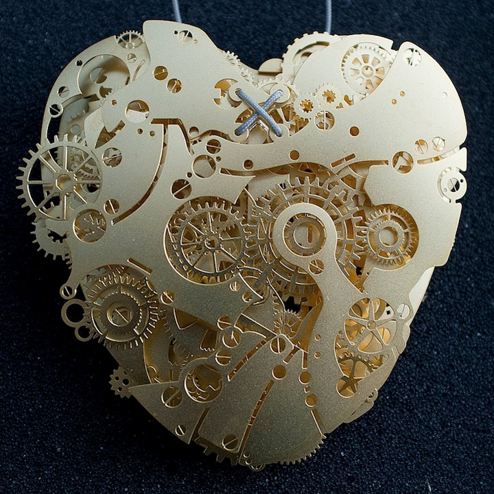 Mechanische Papier-Herzen clockwork_love_05