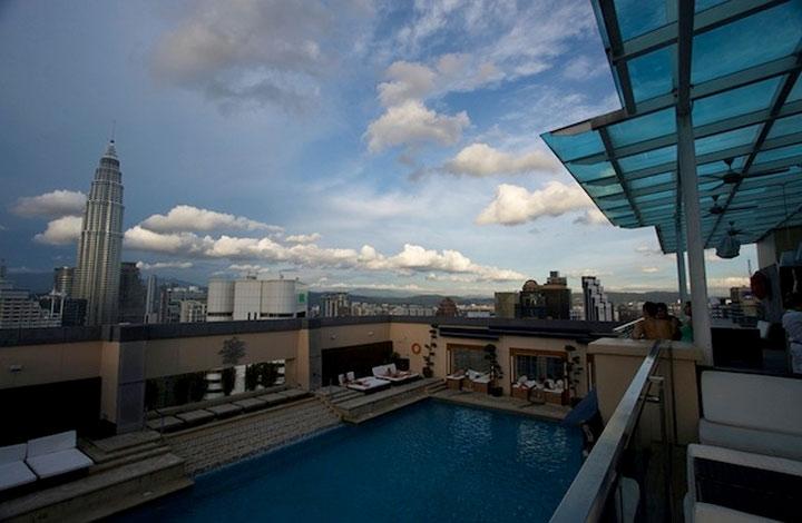 Stylischste Dach Pool-Anlagen der Welt