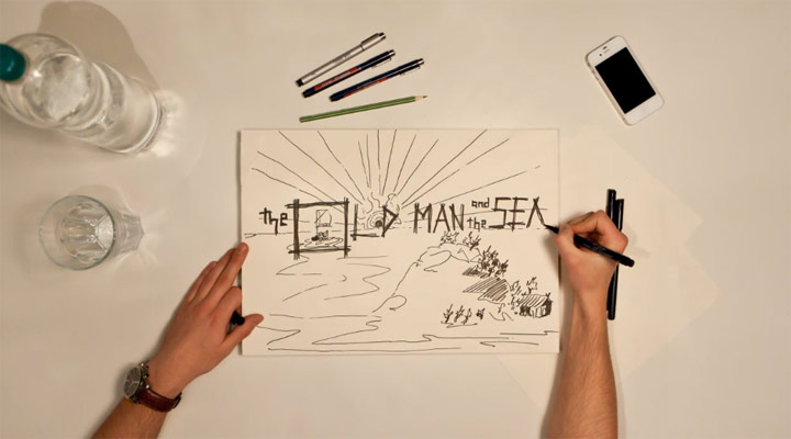 Drawn Timelapse Story: The old man and the sea drawn_oldmanandthesea