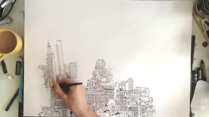 Timelapse: Gezeichnetes New York