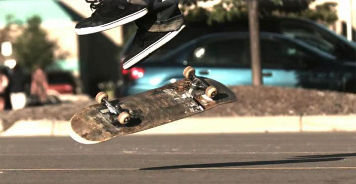 Skateboard: Ground Tricks in 1.000 fps flatgroundtricks_superslowmo