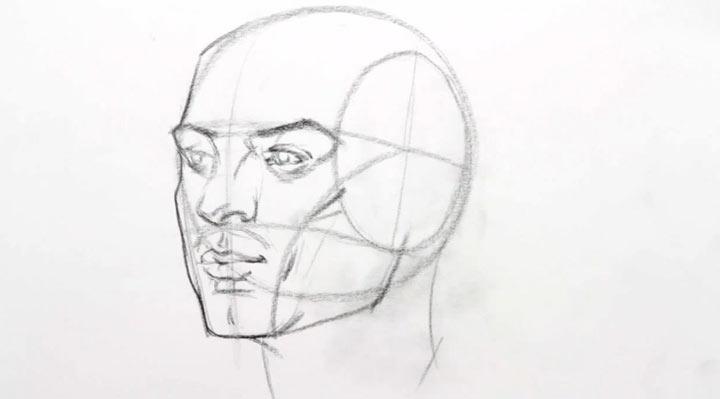 Videotutorial: Wie man einen Kopf zeichnet headdrawanyangle