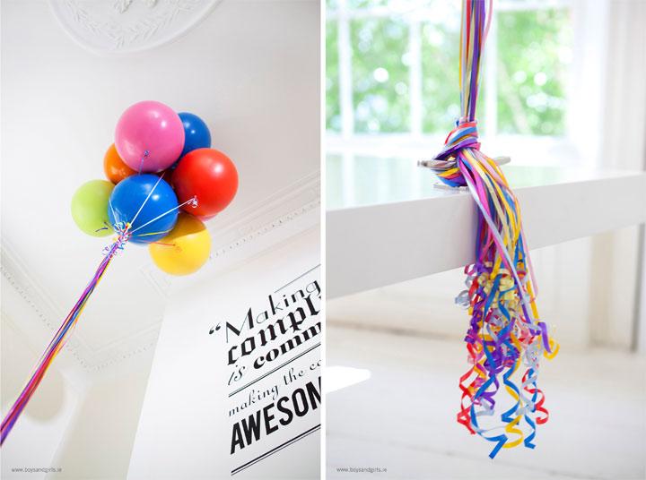 Stylisch bis skurril: Der Jenga-Luftballon-Schreibtisch