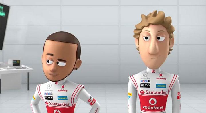 Formel 1 cartooned: McLaren's geheimes Labor mclaren_tooned