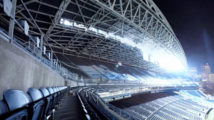 Stadionbeleuchtungen um Mitternacht midnight_lights