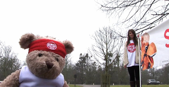 Misery Bear wird sportlich miserybear_sportrelief