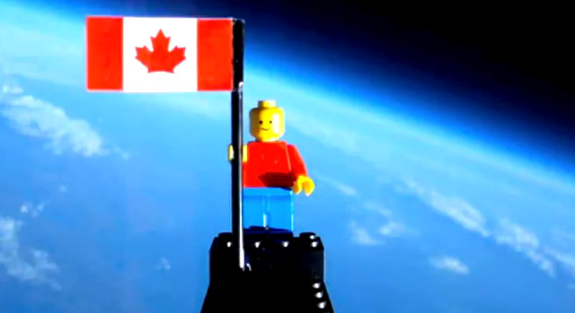 First LEGO-Man in Space! LEGOmaninspace