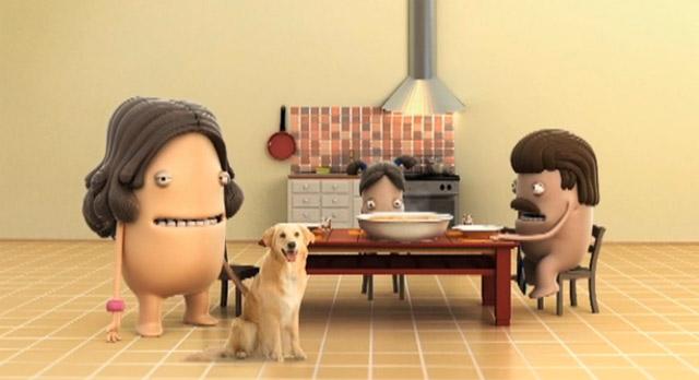 Animierte Mamas aus der Pasta-Werbung Lucchetti_campaign
