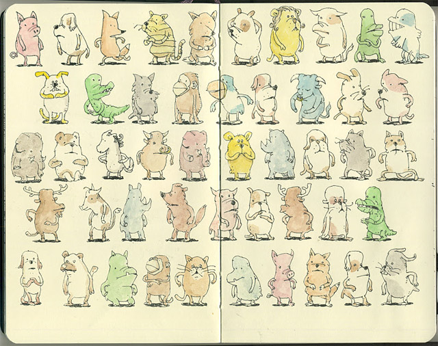 Notizbuch-Illustration: Mattias Adolfsson Mattias_Adolfsson_09