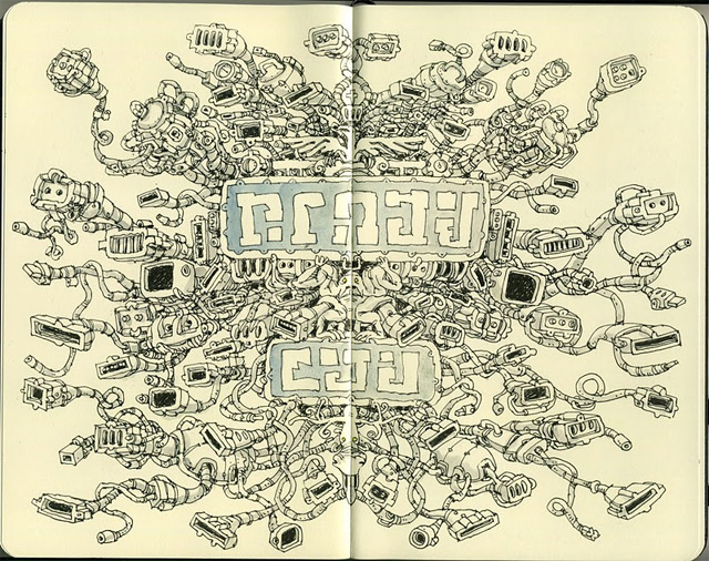 Notizbuch-Illustration: Mattias Adolfsson Mattias_Adolfsson_13