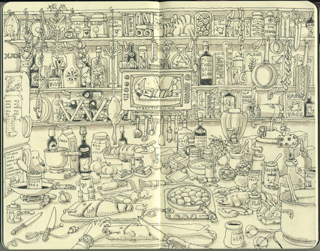Notizbuch-Illustration: Mattias Adolfsson Mattias_Adolfsson_14