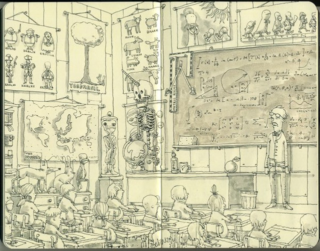 Notizbuch-Illustration: Mattias Adolfsson Mattias_Adolfsson_16