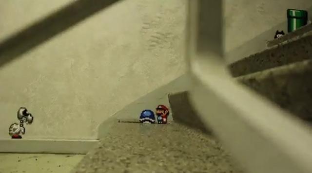 Super Mario im Haus unterwegs