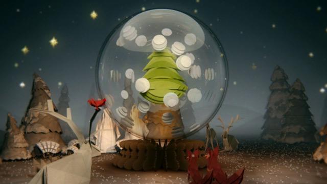 Animation: Schnee-Papier-Kugel christmascard_groupdhug2011