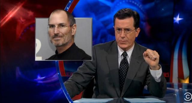 Colbert-Tribute an Steve Jobs colbert_jobs