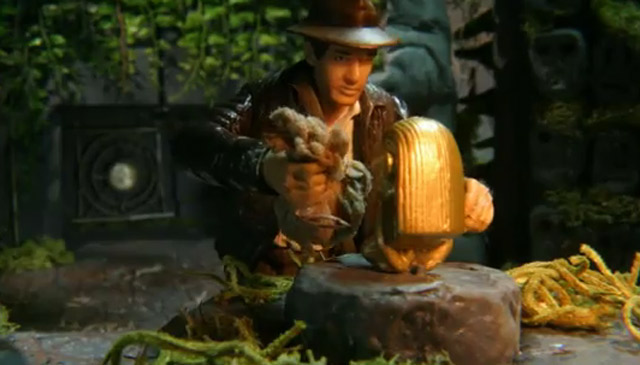 Raiders of the lost Ark- Intro 1:1 in Stopmotion indyanimation