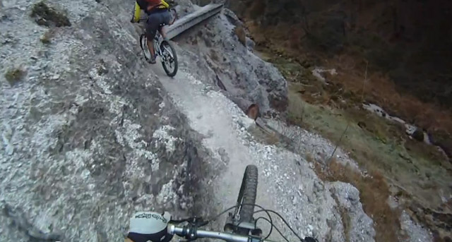 Mit dem Rad am Steilhang entlang radwanderung