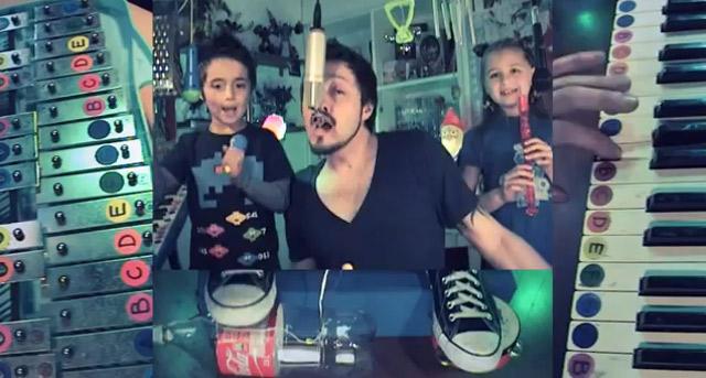 Vater und Kinder covern Depeche Mode schradecoverdepechemode