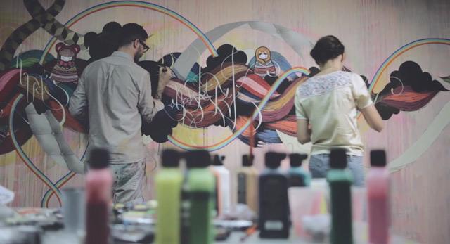 Feine Wandmalerei: SupaKitch & Koralie supakitch_euphorie