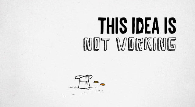 Unterhaltsame Animation mit wirrem Ideenverschleiß thisideaisnotworking