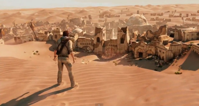 Uncharted 3 Gameplay: Desert Village uncharted_3_desert_village_gameplay