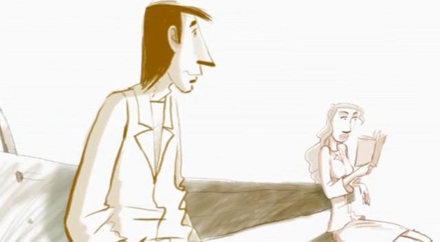 Gedanklicher Dauerlauf zwischen Realität und Fantasie wandering_between_animated_short