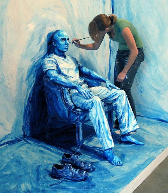 acryl body paintings by Alexa Meade
