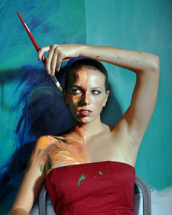 Künstlerisches Acryl-Bodypainting Alexa_Meade_08
