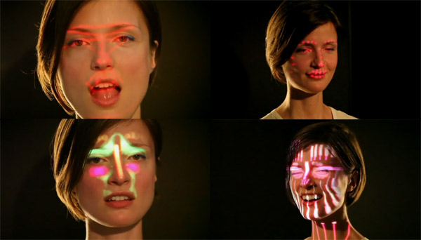 Kinect-Gesichtsmapping-Musikvideo BELL_kinect_facemapping