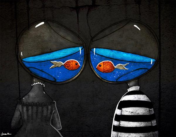 verdrehte Illustration: Berk Öztürk Berk_Oeztuerk_02