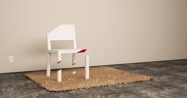 Der einbeinige Stuhl Cut_Chair_02