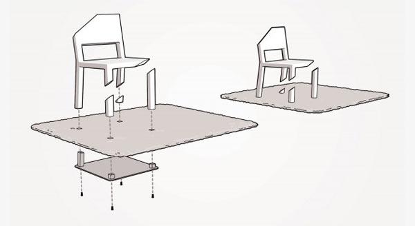 Der einbeinige Stuhl Cut_Chair_04