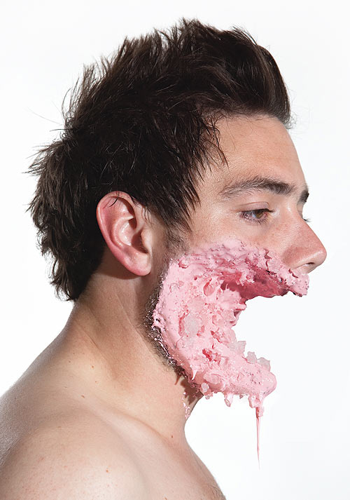 Lecker Splatter: Gesichter mit Süßigkeitswunden Faces_04