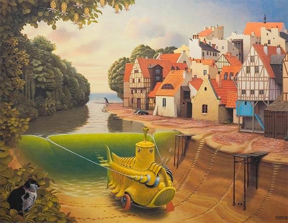 surreal art by Jacek Yerka