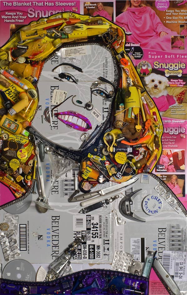 rubbish portraits by Jason Mecier