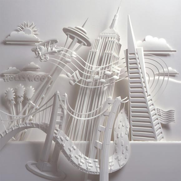 Paper sculptures by Jeff Nishinaka