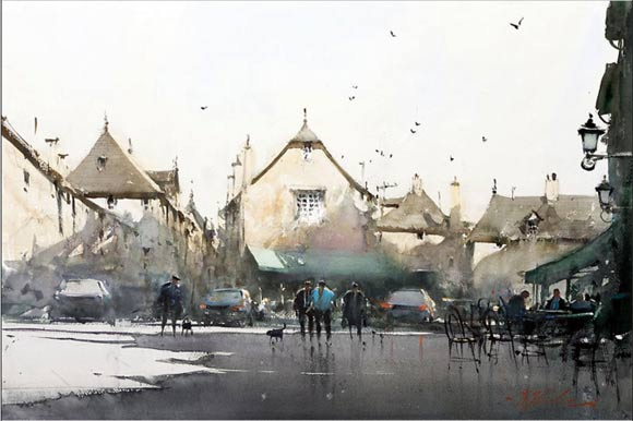 watercolor works by Joseph Zbukvic
