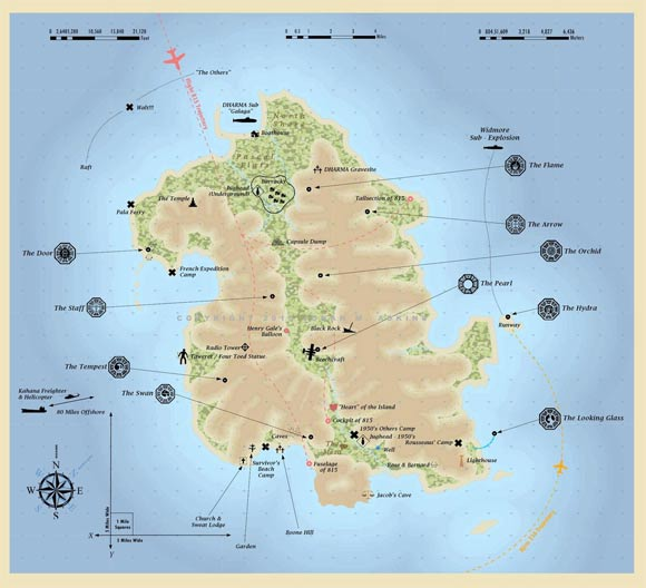 LOST: exact map of the island