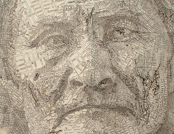 map portraits by Matthew Cusick