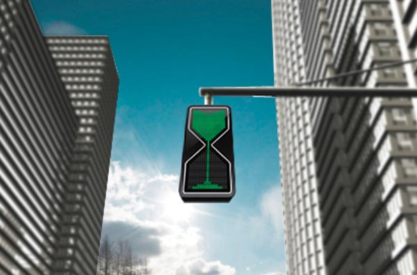 Genial: Die Sanduhr-LED-Ampel Sandglass_LED_trafficlight_01