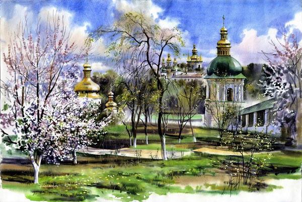 watercolor paintings by Sergey Brandt