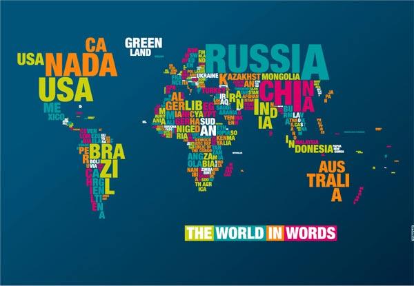 Typo-Weltkarte Typomap