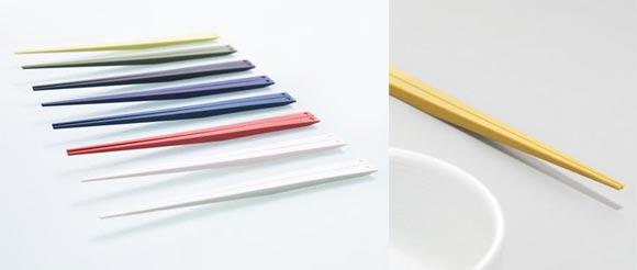 Essstäbchen unter Einsatz der Schwerkraft UKI_hashi_Chopsticks