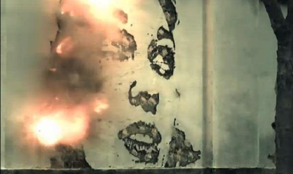Künstlerische Wandexplosionen Vhils_Knaller
