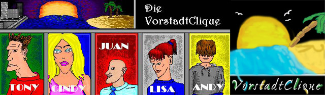 VorstadtClique - trashiger Pseudo-Webcomic mit MS Paint