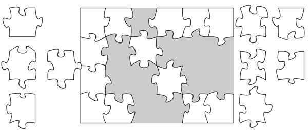 Das weiße Puzzle White_Jigsaw