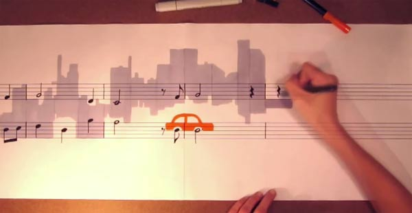 Instant Musiknoten-Maling music_painting