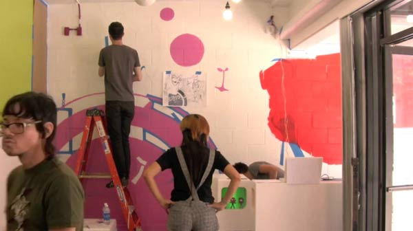 Timelapse-Shopwandbemalung painting_Qpop