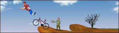 Radfahrer-Slamming radfahrerkicken